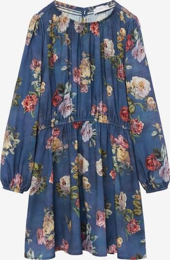 MANGO KIDS Kleid 'Rosas' in creme / rauchblau / hellgrün / weinrot / pastellrot, Produktansicht