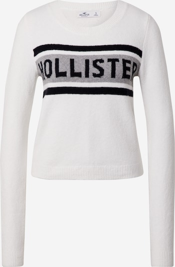 HOLLISTER Sweater in mottled grey / Black / Off white, Item view