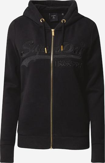 Superdry Sweatjacke in gold / schwarz, Produktansicht
