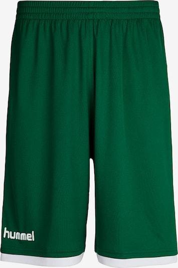 Hummel Pantalon de sport en vert / blanc, Vue avec produit