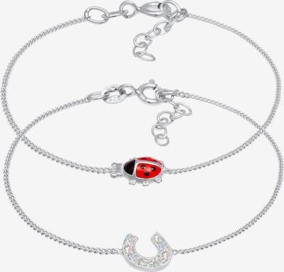 ELLI Armband Hufeisen, Marienkäfer in silber, Produktansicht