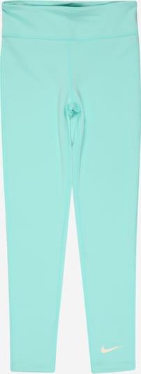 NIKE Pantalon de sport en jade / blanc, Vue avec produit