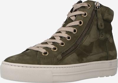 Sneaker înalt Paul Green pe oliv / verde închis, Vizualizare produs