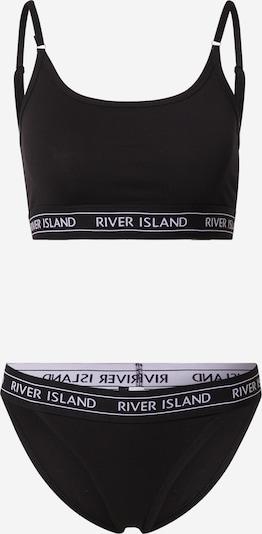 Seturi de lenjerie River Island pe negru / alb, Vizualizare produs