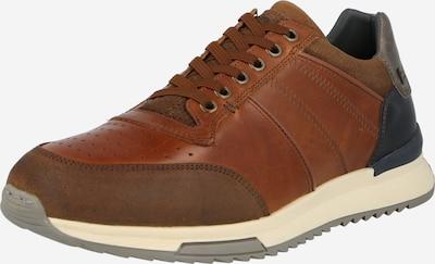 Sneaker low BULLBOXER pe albastru închis / maro caramel / ocru / grej, Vizualizare produs