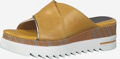 MARCO TOZZI Pantolette in braun / safran / grau: Frontalansicht