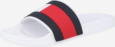 TOMMY HILFIGER Zapatos abiertos en navy / rojo / blanco, Vista del producto