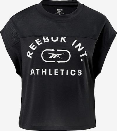Reebok Sport Funktionsshirt in schwarz / weiß, Produktansicht