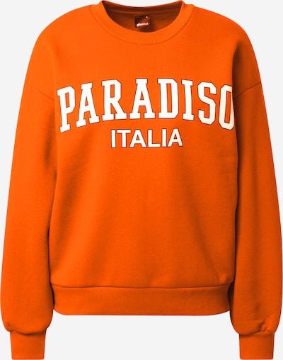 Gina Tricot Sweatshirt 'Riley' in de kleur Sinaasappel / Wit, Productweergave