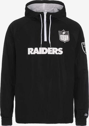 NEW ERA Functionele jas 'Las Vegas Raiders' in de kleur Zwart / Wit, Productweergave