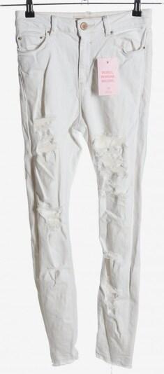 ASOS DESIGN High Waist Jeans in 24-25/30 in weiß, Produktansicht