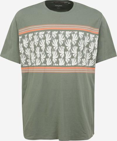 Tricou 'SUNNYS' Jack & Jones Plus pe kaki / portocaliu deschis / alb, Vizualizare produs