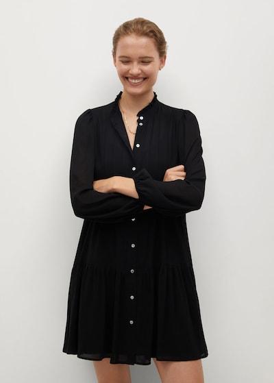 MANGO Рокля тип риза 'Sofia' в черно: Изглед отпред