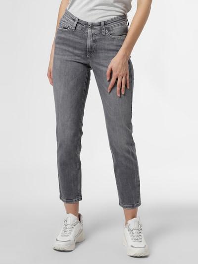 Cambio Jeans in grey denim / dunkelgrau, Modelansicht