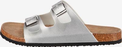 Lynfield Pantolette in hellbraun / silber, Produktansicht