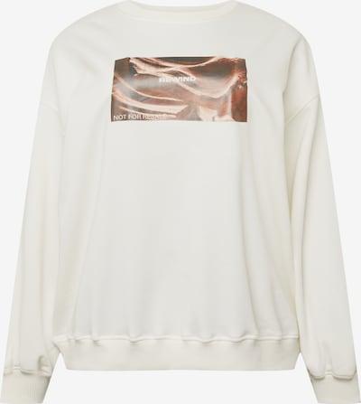 Public Desire Curve Sweater majica 'OVERSIZED SLOGAN SWEATSHIRT CURVE' u bež melange, Pregled proizvoda