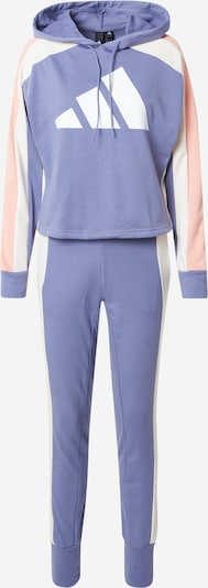 Costum de trening ADIDAS PERFORMANCE pe albastru fumuriu / roz / alb, Vizualizare produs