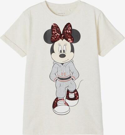 NAME IT T-Shirt 'Minnie Carin' in graumeliert / rot / schwarz / weiß, Produktansicht