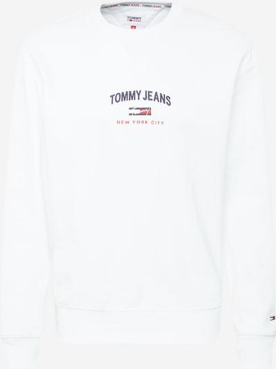 Tommy Jeans Mikina 'TIMELESS' - námornícka modrá / červená / biela: Pohľad spredu