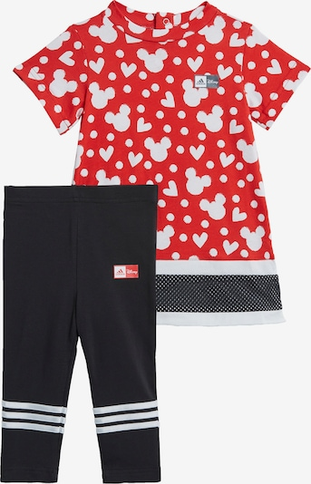 ADIDAS PERFORMANCE Set 'Disney Minnie Mouse' in rot / schwarz / weiß, Produktansicht