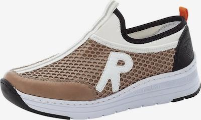 barna / fekete / fehér RIEKER Belebújós cipők, Termék nézet