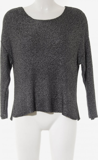 MANGO Sweater & Cardigan in S in Black / Silver: Frontal view