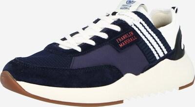 FRANKLIN & MARSHALL Baskets basses en bleu foncé / blanc naturel, Vue avec produit