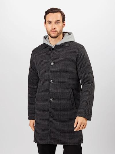 Palton de primăvară-toamnă Denim Project pe gri închis / negru, Vizualizare model