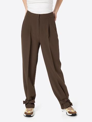 Envii - Pantalón plisado 'ENAURELIE' en marrón