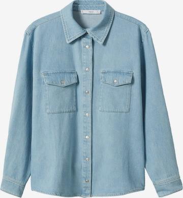 MANGO Bluse 'JULIE' in Blau