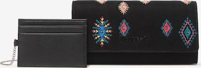 Desigual Geldbörse in blau / pink / schwarz, Produktansicht