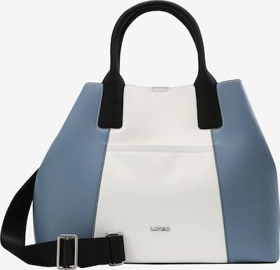L.CREDI Henkeltasche 'GILLIAN' in blau / weiß, Produktansicht