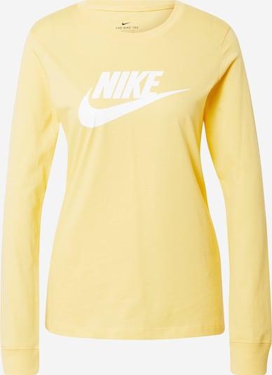 Nike Sportswear Sweatshirt i gul / hvid, Produktvisning
