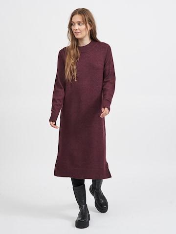 VILA Gebreide jurk 'Ril' in Rood