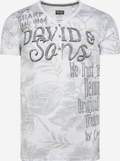 Marškinėliai iš CAMP DAVID , spalva - pilka / balta, Prekių apžvalga