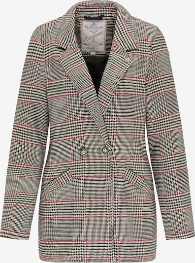 DreiMaster Vintage Blazer en gris / rouge / noir, Vue avec produit
