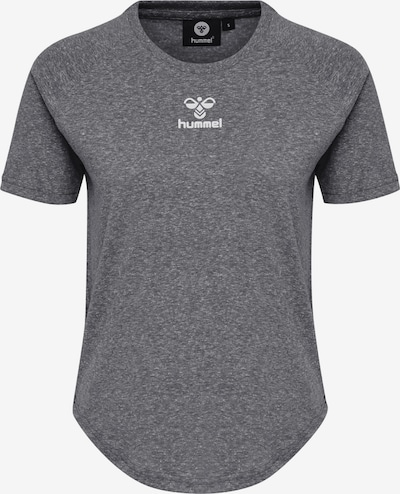 Hummel Functioneel shirt in de kleur Grijs gemêleerd, Productweergave