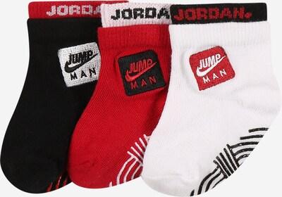 Jordan Socken 'JUMPMAN BY NIKE' in rot / schwarz / weiß, Produktansicht