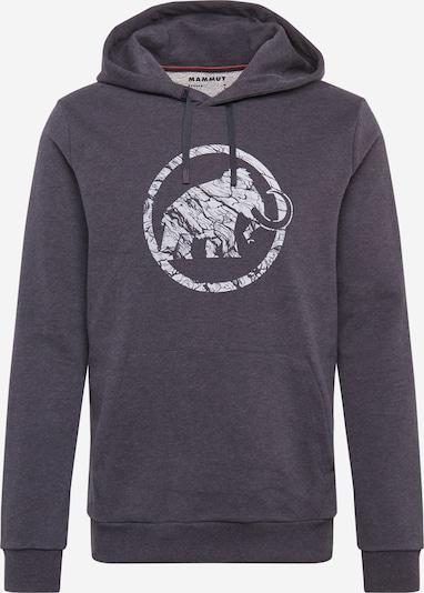 MAMMUT Sweatshirt in schwarzmeliert / weiß, Produktansicht