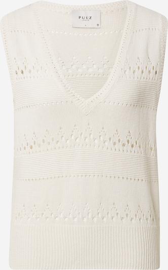 PULZ Jeans Pullover 'Therese Premium' in weiß, Produktansicht
