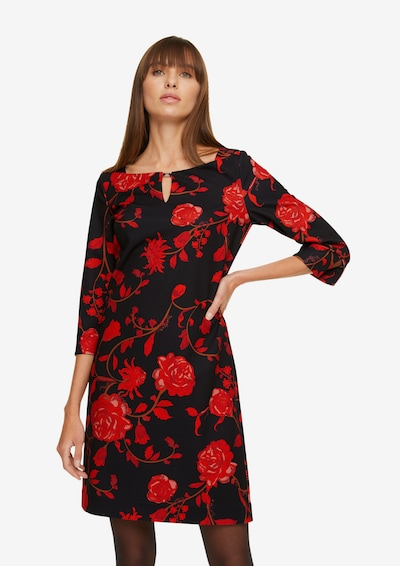 COMMA Kleid in rot / schwarz, Modelansicht