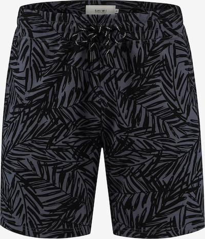 Shiwi Shorts 'Mangrove' in anthrazit / violettblau, Produktansicht