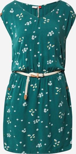 Ragwear Kleid 'Carolina' in senf / dunkelgrün / weiß, Produktansicht