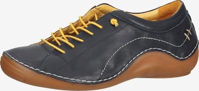 COSMOS COMFORT Sportlicher Schnüschuh in navy / gelb / weiß, Produktansicht