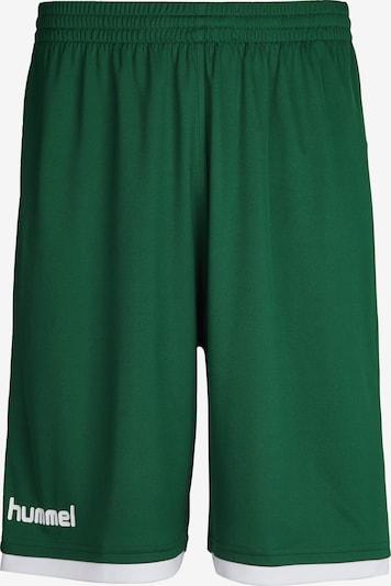 Hummel Sporthose in grün / weiß, Produktansicht