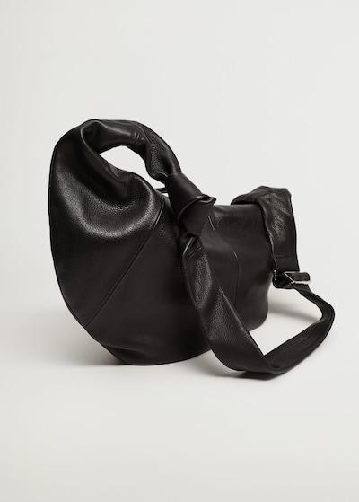 MANGO Schoudertas 'Mia' in de kleur Zwart, Productweergave