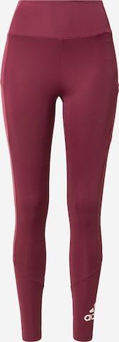 ADIDAS PERFORMANCE Παντελόνι φόρμας 'W BL TIG' σε κόκκινο