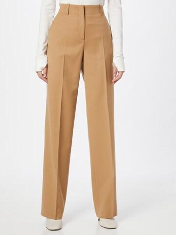HUGO - Pantalón de pinzas 'Hulana' en marrón