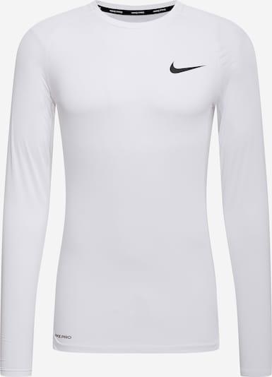 NIKE Funkcionalna majica | črna / bela barva, Prikaz izdelka