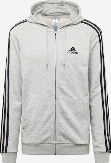 ADIDAS PERFORMANCE Sportsweatjacke in grau / schwarz, Produktansicht